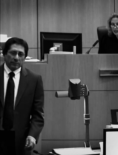 Cartinez' courtroom version of 'sliding home'